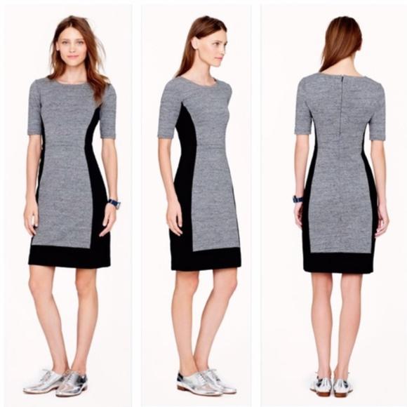 J. Crew Dresses & Skirts - J.Crew Colorblock Paneled Stretch Dress   Size 8